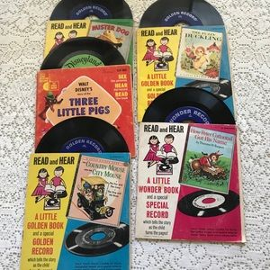golden books Other - Set of 5 vintage Read and Hear Little Golden Books